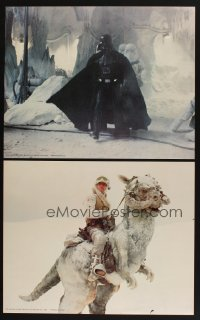 7w032 EMPIRE STRIKES BACK 4 color 16x20 stills 1980 Darth Vader, Luke riding tauntaun & more!