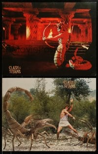 7w034 CLASH OF THE TITANS 6 color 17.75x33 stills 1981 cool Ray Harryhausen special effects scenes!