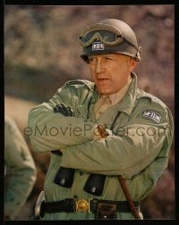 7w035 PATTON 6 color 16x20 stills 1970 includes most classic Scott & giant U.S. flag image!