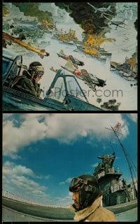 7w031 TORA TORA TORA 3 color 16x20 stills 1970 attack on Pearl Harbor, with Bob McCall art!