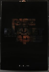 7w022 RISE OF THE PLANET OF THE APES lenticular 1sh 2011 prequel to the classic