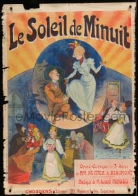 7w157 LE SOLEIL DE MINUIT 34x49 French stage poster 1898 Rene Pean montage of images from opera!