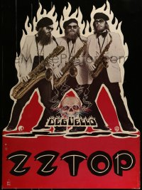 7w013 ZZ TOP standee 1979 great image of the bearded band with saxophones, Deguello!
