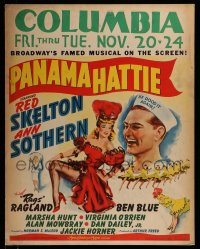 7w029 PANAMA HATTIE jumbo WC 1942 art of laughing sailor Red Skelton & sexy dancer Ann Sothern!
