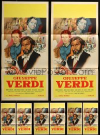 7x018 LOT OF 8 FOLDED GUISEPPE VERDI ITALIAN LOCANDINAS 1953 Pierre Cressoy as the composer!