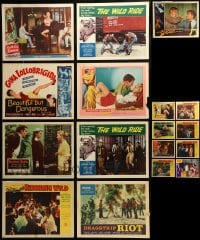 7x003 LOT OF 17 BAD GIRL AND BAD BOY LOBBY CARDS 1950s-1960s scenes from several different movies!