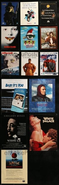 7x023 LOT OF 14 PROMO BROCHURES AND ITEMS 1980s-1990s great images from a variety of movies!