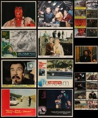 7x009 LOT OF 25 LOBBY CARDS 1960s-1970s great scenes from a variety of different movies!