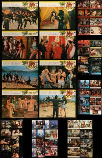 7x012 LOT OF 80 HONG KONG LOBBY CARDS 1970s-1980s great scenes from a variety of movies!