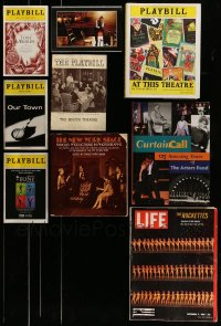 7x034 LOT OF 9 PLAYBILL AND OTHER STAGE PLAY BOOKS, PROGRAMS AND MAGAZINE 1930s-2000s cool!