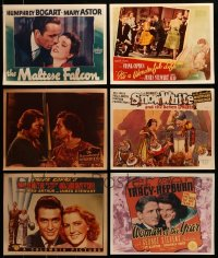 7x026 LOT OF 6 REPRO LOBBY CARDS 1980s Maltese Falcon, Robin Hood, It's a Wonderful Life & more!