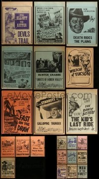 7x019 LOT OF 22 LOCAL THEATER WESTERN WINDOW CARDS 1940s a variety of cool cowboy images!
