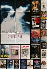 7x058 LOT OF 67 FOLDED ONE-SHEETS 1970s-1990s great images from a variety of different movies!