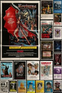 7x075 LOT OF 49 FOLDED ONE-SHEETS 1970s-1980s great images from a variety of different movies!