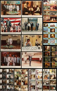 7x005 LOT OF 120 LOBBY CARDS 1970s-1980s complete sets of 8 cards from 15 different movies!