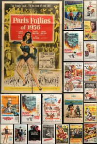 7x061 LOT OF 61 FOLDED ONE-SHEETS 1950s-1980s great images from a variety of different movies!