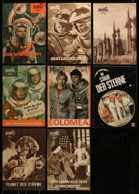 7x016 LOT OF 8 SOVIET SCI-FI EAST GERMAN PROGRAMS 1960s-1970s filled with great images!