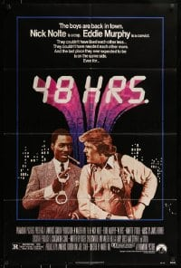 7y018 48 HRS. 1sh 1982 Nick Nolte is a cop who hates Eddie Murphy who is a convict!