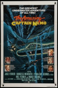 7y039 AMAZING CAPTAIN NEMO int'l 1sh 1978 sci-fi art of divers in the greatest underwater adventure!