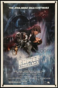7y240 EMPIRE STRIKES BACK NSS style 1sh 1980 classic Gone With The Wind style art by Roger Kastel!