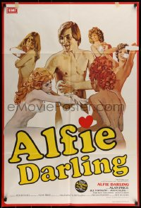7y032 ALFIE DARLING English 1sh 1980 sexy Joan Collins and Alan Price in the title role!