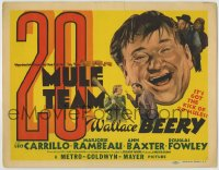 8k004 20 MULE TEAM TC 1940 Wallace Beery, Leo Carrillo, Marjorie Rambeau, first Anne Baxter!