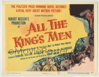8k010 ALL THE KING'S MEN TC 1950 Louisiana Governor Huey Long biography with Broderick Crawford!