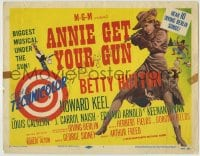 8k013 ANNIE GET YOUR GUN TC R1956 full-length art of Betty Hutton as the greatest sharpshooter!