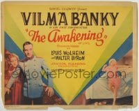 8k019 AWAKENING TC 1928 French Vilma Banky has affair with German soldier during WWI & is shunned!