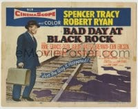 8k021 BAD DAY AT BLACK ROCK TC 1955 Spencer Tracy tries to find out just what happened to Komoko!
