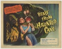 8k023 BEAST FROM HAUNTED CAVE TC 1959 Roger Corman, best art of monster with sexy censored victim!