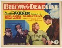 8k028 BELOW THE DEADLINE TC 1936 Cecilia Parker in a dynamic drama of lurking shadows on Broadway!