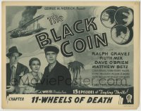 8k033 BLACK COIN chapter 11 TC 1936 Ralph Graves, Ruth Mix, O'Brien, serial, Wheels of Death!