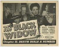 8k036 BLACK WIDOW chapter 11 TC 1947 cast montage, Republic sci-fi serial, Death Dials a Number!