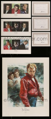 8m001 LOT OF 4 JAMES DEAN LIMITED EDITION ART PRINTS 2005 from the 50th anniversary of his death!
