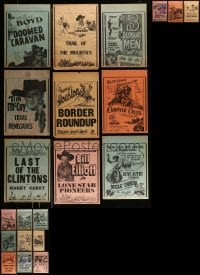 8m010 LOT OF 21 11x14 LOCAL THEATER WESTERN WINDOW CARDS 1930s-1940s images from cowboy movies!