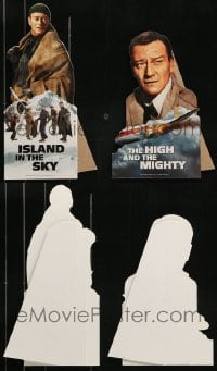 8m013 LOT OF 2 JOHN WAYNE VIDEO MINI STANDEES 2000s Island in the Sky, High and the Mighty!