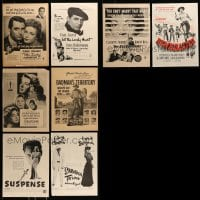 8m036 LOT OF 8 MAGAZINE ADS 1940s-1950s great images from a variety of different movies!