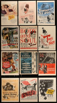 8m035 LOT OF 12 MAGAZINE ADS 1940s great images from a variety of different movies!