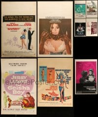 8m004 LOT OF 17 MOSTLY UNFOLDED WINDOW CARDS 1950s-1970s great images from a variety of movies!
