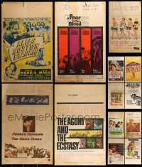 8m005 LOT OF 13 MOSTLY UNFOLDED WINDOW CARDS 1940s-1970s great images from a variety of movies!
