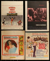 8m007 LOT OF 4 TRIMMED MOSTLY UNFOLDED WINDOW CARDS 1960s-1970s Gypsy, The Damned & more!