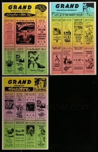8m006 LOT OF 3 LOCAL THEATER WINDOW CARDS 1970s Superman, Lord of the Rings & more!
