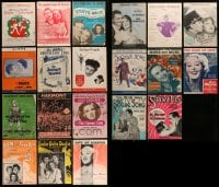 8m021 LOT OF 20 SHEET MUSIC 1930s-1950s great songs from a variety of different movies