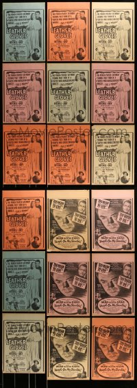 8m011 LOT OF 35 11x14 LOCAL THEATER WINDOW CARDS 1930s-40s Leather Gloves & Angel on my Shoulder!