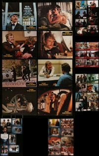 8m031 LOT OF 70 GERMAN LOBBY CARDS 1970s-2000s great scenes from a variety of movies!