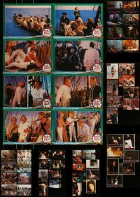 8m032 LOT OF 79 GERMAN LOBBY CARDS AND 2 LOBBY CARD POSTERS 1960s-1990s a variety of movie scenes!