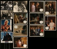 8m027 LOT OF 13 NON-U.S. STILLS AND LOBBY CARDS 1960s-1980s scenes from a variety of movies!