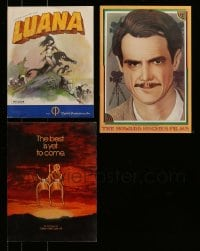 8m025 LOT OF 3 PROMO BROCHURES 1970s-1980s Luana, Howard Hughes, J&M at Cannes!