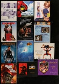 8m023 LOT OF 13 PROMO BROCHURES 1990s-2000s great images from a vareity of different movies!